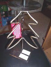 """CHRISTMAS METAL CANDLE HOLDER CHRISTMAS TREE 9"""" TALL PILLAR CANDLE HOLDER"""