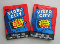 1983 Topps Video City Lot of 2 Sealed Trading Card Packs - Donkey Kong & Frogger