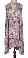 Label of Love Womens Pink Floral Sleeveless Dress Size S