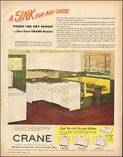 1949`Vintage ad for CRANE`Plumbing and Heating`Retro Kitchen Photo (080115)