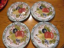 "Heritage Mint BLACK FOREST FRUITS (4) 10.5"" dinner plates"