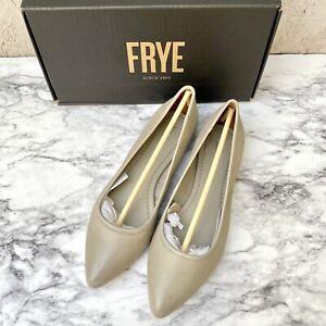 NIB Frye Regina Ash Leather Pointed Toe Ballet Flats sz 9