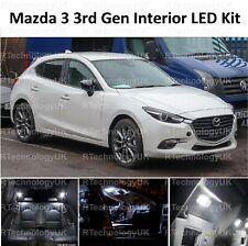 PREMIO PER MAZDA 3 2013-2018 Interior Bianco Full Aggiornare Kit Lampadina LED Luce