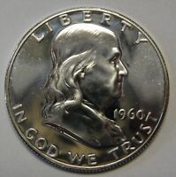 1960 Silver Proof Ben Franklin Half Dollar Flashy Gem Example Priced Right