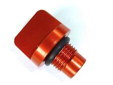 KTM 125 200 390 DUKE OIL FILLER BOLT PLUG SCREW  ORANGE ENGRAVED NEW B12L