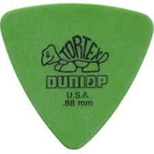 Jim Dunlop TORTEX TRIANGLE .88mm Guitar Picks, 10 pack.