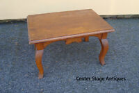 36004 Antique Victorian  Solid Oak Footstool Bench Stool