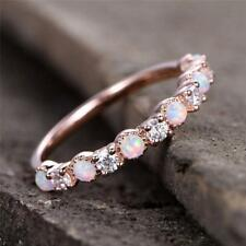 BN 14K Rose Gold Ring High Quality Round Cut Diamond Jewelry Opal Rings.Pro