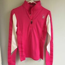 Spyder Women's Voltaic Dry Web Long Sleeve Pink/White Top Size 4 - NEW w/ Tags!
