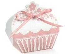 10 Scatolina cup cake bomboniera portaconfetti cuore bomboniera italiana rosa