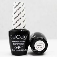 OPI GelColor GC L00 ALPINE SNOW 15mL UV LED Gel Polish White Tip French Manicure