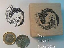 P83 Koi Ying Yang rubber stamp WM