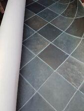 340x120cm Grey Stone Tile Effect HD Vinyl Lino Rectangle Runner Floor mat #202