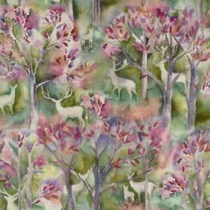 Voyage - Seneca Forest - Spring - Fabric Remnant - 155cm x 28cm - Face Masks