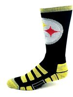 For Bare Feet Pittsburgh Steelers Gold and Black Patches RMC Crew Socks