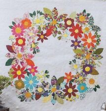 Flowering Wreath - beautiful applique quilt PATTERN - Free Bird Designs