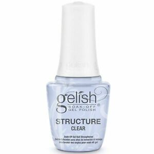 STRUCTURE GEL SOAK OFF (CLEAR) strengthener GELISH 15ml Made in the USA