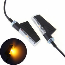 Aluminum Motorcycle LED Turn Signals Indicator Blinker Lights Sail Type M7 Screw