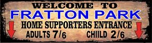 Retro Fratton Park Sign, Football sign, Portsmouth FC sign. Retro wall sign