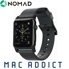 Nomad Horween Leather Band For Apple Watch 42mm & 44mm - BLACK
