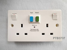 SELECTRIC RCD/LATCHED TWIN SWITCHED SOCKET WHITE 13A SPL-RCD2GS