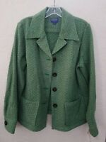 NWT Pendleton Green Herringbone Wool Barn Style Jacket Coat   Size Large
