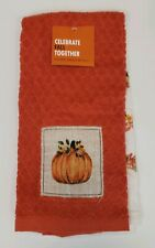 Set of 2 Kitchen Towels Fall Autumn Pumpkin Patch Orange Seasonal Kohl's