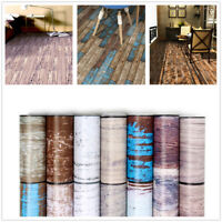 Vintage Wood Grain Wallpaper Vinyl Self Adhesive Floor Stickers Wall Stickers