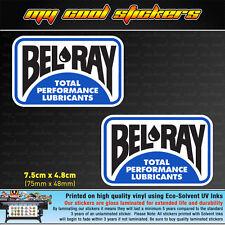 2 x Bel-Ray Belray Vinyl Sticker Decal, 4X4 Ute Car Oil Motorcycle