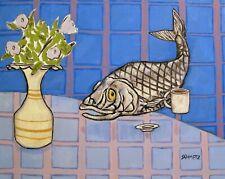 Pacific Herring coffee fish picture Art Print 8x10 artist prints animals
