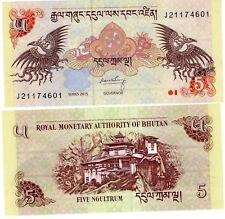 Bhutan BHOUTAN  Billet 5 Ngultrum 2015 P28  2 AIGLES  NEUF UNC