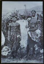Antique Magic Lantern Slide Photo South Africa Two Swaziland Natives