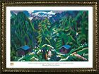 FRAMED Mountain Landscape From Clavadel by Ernst Ludwig Kirchner 20x28 Art Print