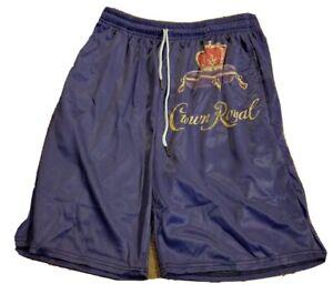 NEW CROWN ROYAL Logo Men's Long Beach Swimming Drawstring Board Shorts Size XL