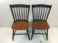 Hitchcock chair co Black/harvest 412-6 Side Chairs used hitchcock dot Com