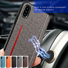 For iPhone XR XS MAX X 6 7 8 Case Cover PU Leather Hybrid TPU Bumper Shockproof