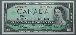 Bank of Canada $1 1967  Canadian Banknote World Paper Money 84 Reg.Ser no. AUNC