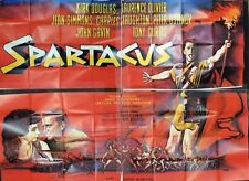 Kirk Douglas, Stanley Kubrick SPARTACUS (1960) French Four Panel Poster