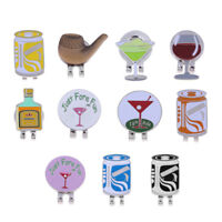 Creative Patterns Soft Enamel Golfer Golf Ball Marker with Magnetic Hat Clip