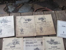 VINTAGE LOT-7-J.I.CASE COMPANY MANALS-COMBINES-CORN HEADS-FORKLIFT-BACKHOE-ETC.