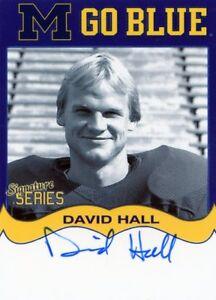 2006 TK LEGACY SIGNATURE SERIES DAVID HALL MICHIGAN WOLVERINES MGB124 1980-83