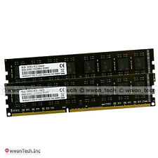 16GB Kit 2x8GB PC3-10600 DDR3-1333Mhz 240pin DIMM Desktop Memory RAM Low Density