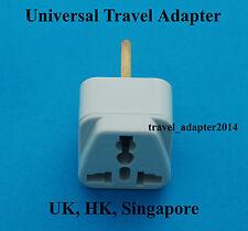 Universal USA EURO AUS to GB United Kingdom HK Travel AC Power Plug Adapter New