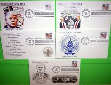 2017 TRUMP-PENCE INAUGURATION COVER SET OF 5, FLAG STAMP, PANDA CACHET $23 VALUE