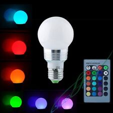 Multi Color Changing LED 5W Light Lamp Bulb With 220V Remote Controler RGB Color