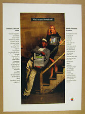 1995 Apple PowerBook computer Samuel L Jackson & Wendy Finerman photo vintage Ad