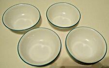 4 Corelle Livingware SOUTH BEACH Soup Cereal Bowls NEW Blue Rim
