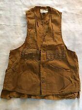 American Field Sportswear Mens Vintage Light Brown Cotton Hunting Vest (M) (J2)
