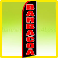 Barbacoa - Swooper Flag Feather Flutter Banner Sign 11.5' Tall - kq