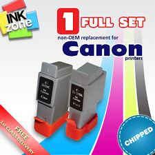 Full Colour Set of non-OEM Ink for CANON i250 i255 i320 i350 i355 i450 i455 i470